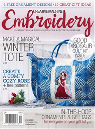 Creative Machine Embroidery – November/December 2015