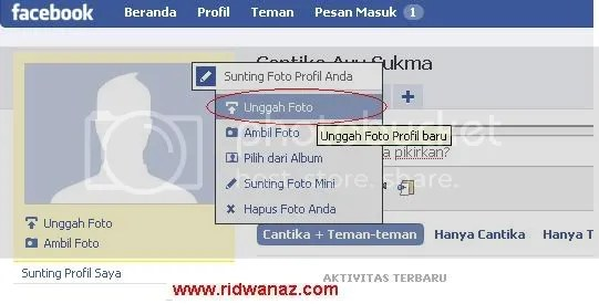 cara upload foto profile facebook