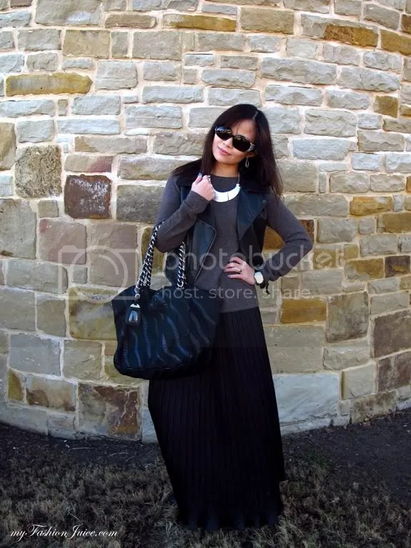 Maxi Sweater1 {Weekly Wear} Pleated Maxi & Sweater Combo