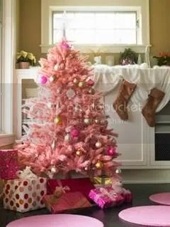 tis the season, but a pink tree?