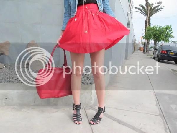 RED SKIRT falda roja milagros plaza,Milagros Plaza Styleinlima