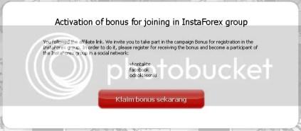 Instaforex $10 Facebook bonus