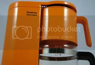 orange Rowenta coffee machine