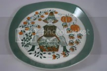 vintage folk decorated plate