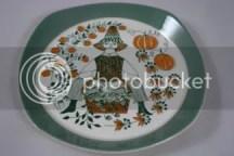 vintage folk decorated plate