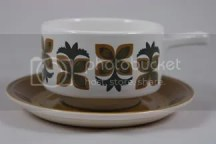 Vintage soup tureen with floral decoration