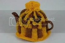 teapot and hand knitted cosy