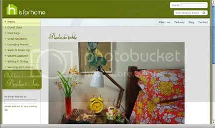 screenshot of H is for Home website