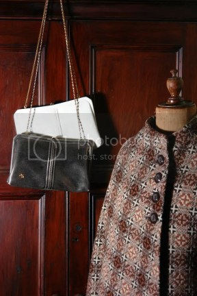 Welsh wool cape and handbags