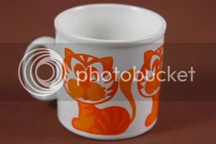 Vintage Staffordshire pottery mug
