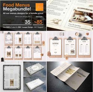 CreativeMarket - Food Menus Megabundle