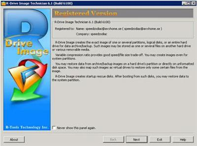 R-Drive Image Technician 6.1 Build 6100.BootCD