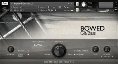Cinematique Instruments Bowed Guitars 2.KONTAKT
