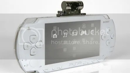 White PSP and Go!Cam