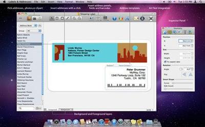 BeLight Labels and Addresses 1.7.3.Multilingual MacOS X