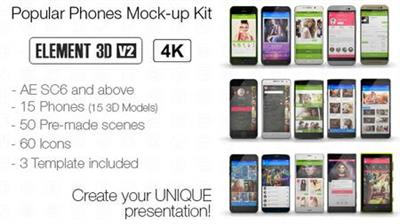 Popular Phones Mock-up Kit - Project for After Effects (VideoHive)