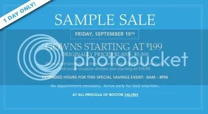 SALE ALERT: Priscilla of Boston Sample Sale | Aylee Bits