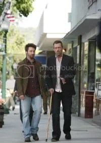 Hugh Laurie and Michael Weston in House.