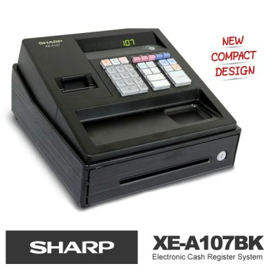 New SHARP XE-A107 Black Electronic Cash Register supercede XE-A102 (1 Year Wrty) | eBay