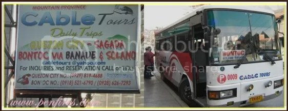 Sagada Tour - Cable Bus to Bontoc