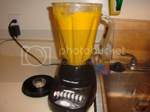 Soup in blender