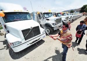 challando camiones