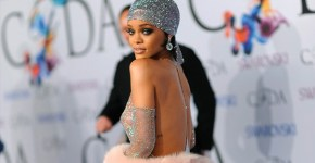 Rihanna See-Through Sexy For Fashion Icon Award