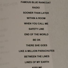 sixpence setlist
