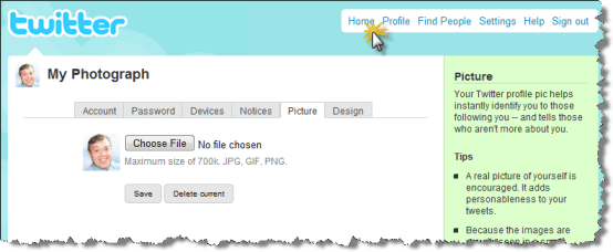 click home How to upload your picture in Twitter   Step by step