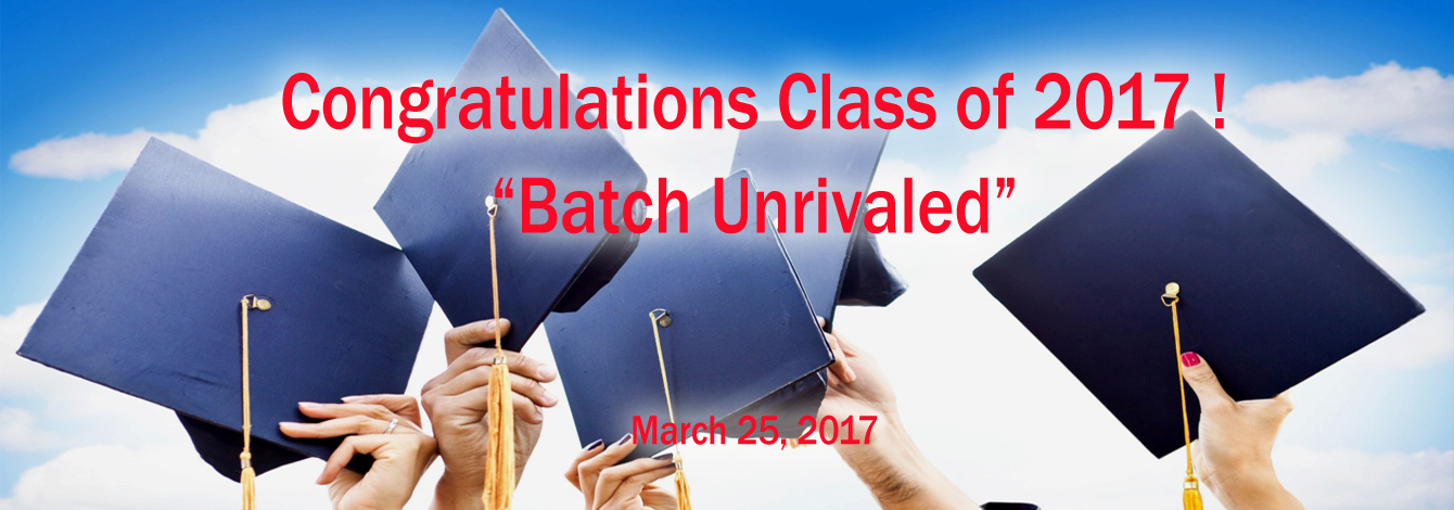 Congratulations Class 2017