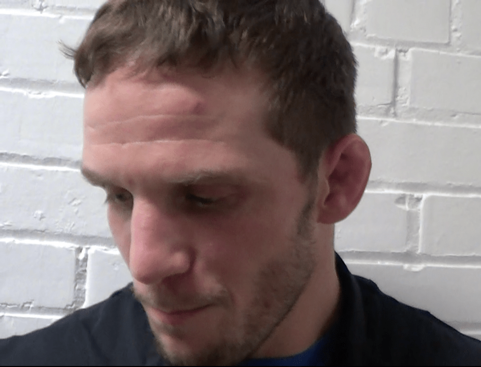 Doug Schwab talks after the Kent State Dual