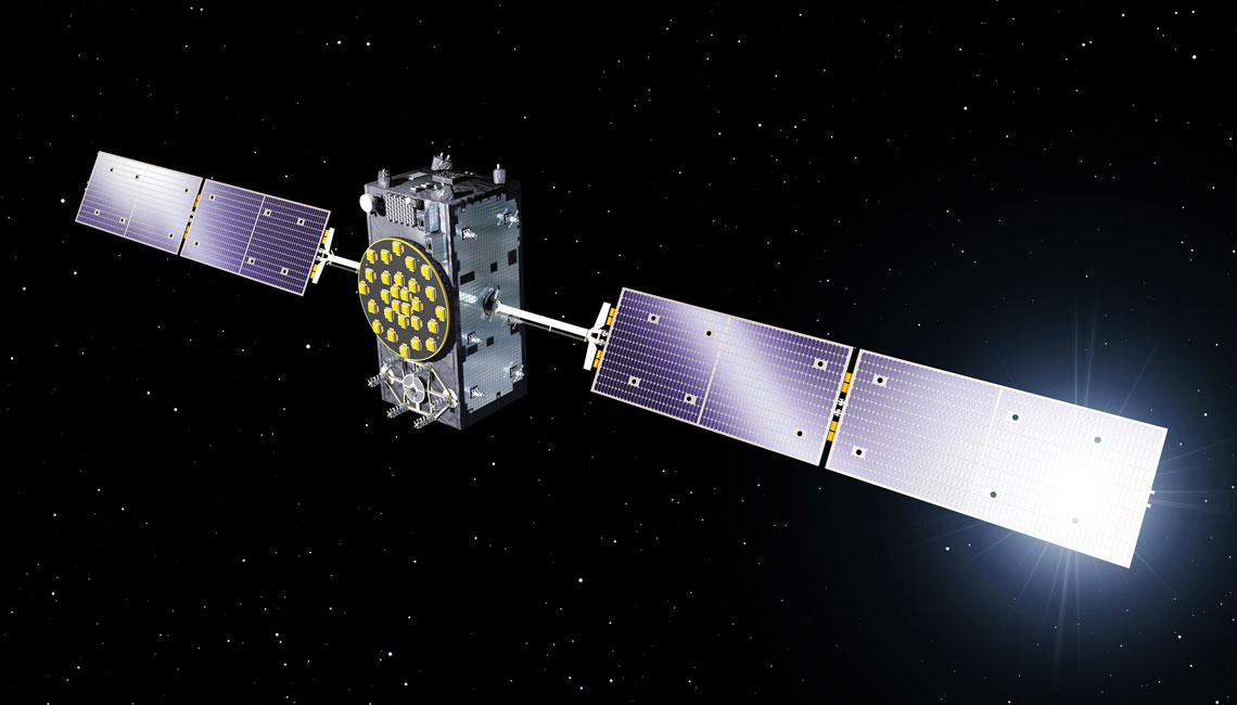 Galileo satellite in orbit with IberEspacio Heat Pipes and Thermal Blankets