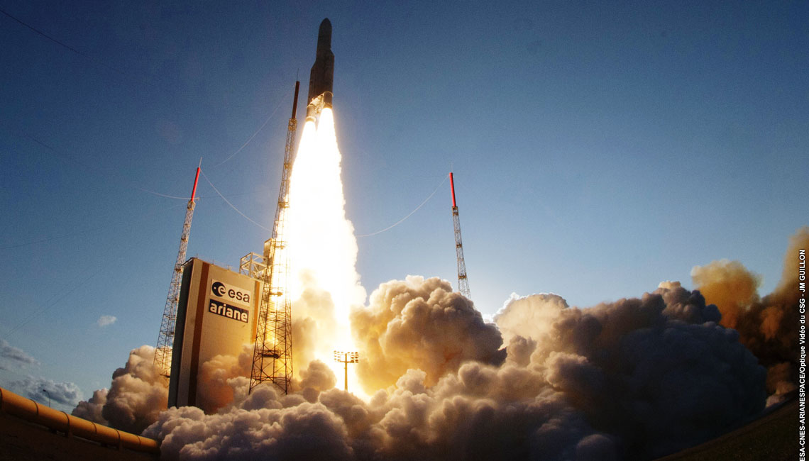 Eutelsat 25 B launch from Kourou including IberEspacio Loop Heat Pipes