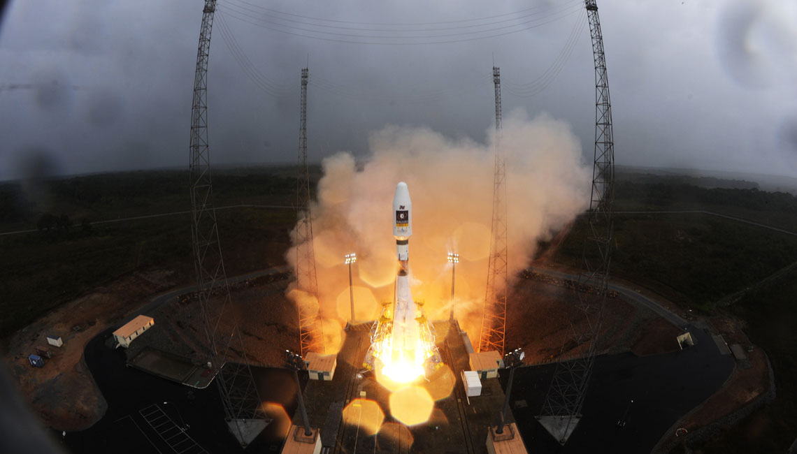 Galileo IOV being launch by a Soyuz rocket with IberEspacio contribution of Thermal Blankets