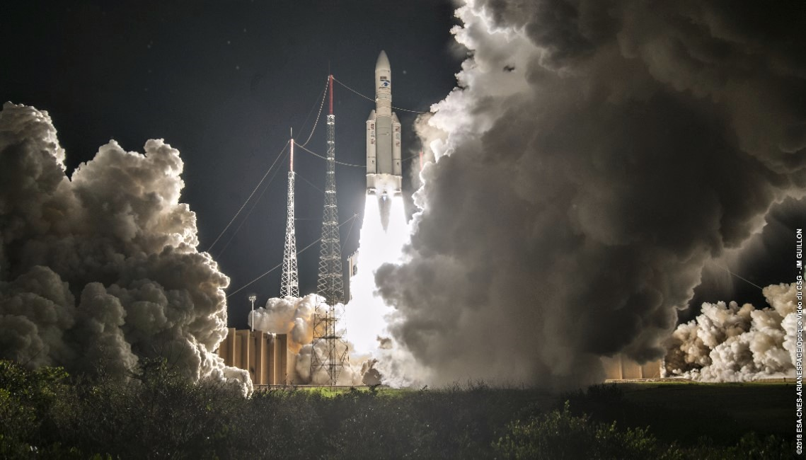 Intelsat-38/Azerspace-2 fully equipped with IberEspacio's panels launched on board Arianespace VA243 Ariane 5 Mission