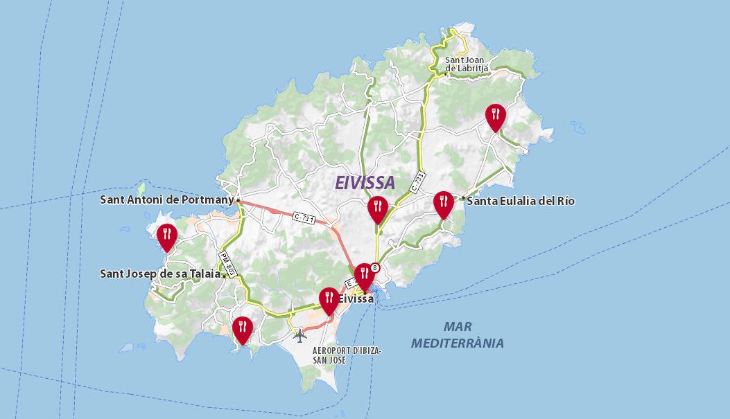Restaurantes de Ibiza recomendados por la guia Michelin