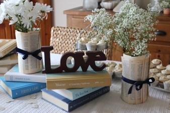 love books tablescape