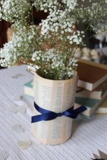 babys breath book page vase
