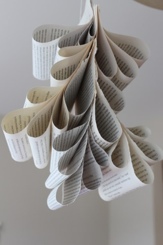 hanging book pages