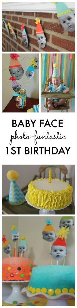 Baby Faces Photo Theme First Birthday Party