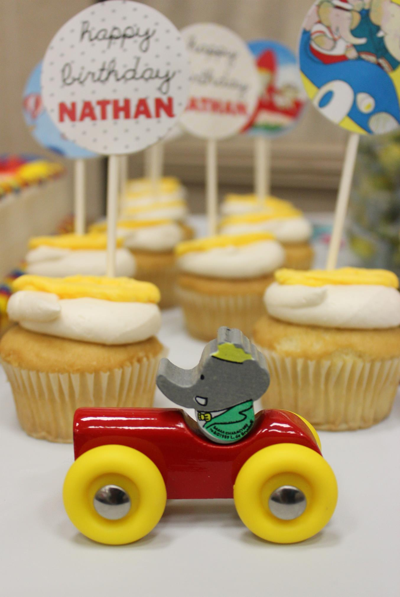 Nathan's Vintage Babar Birthday Party!