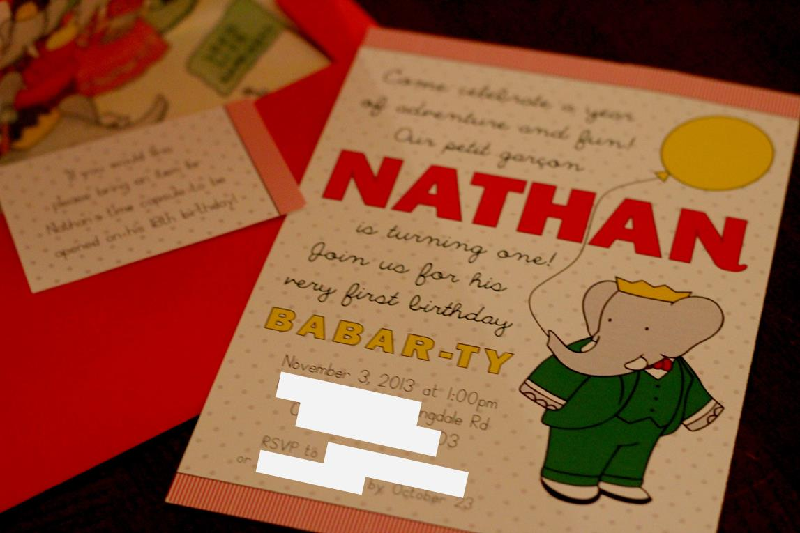 Nathan\'s Vintage Babar Birthday Party! - Ice Cream Off Paper Plates