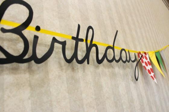 babar script birthday sign