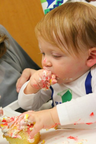 nathan eating cake