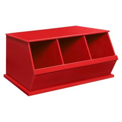 red cubby storage