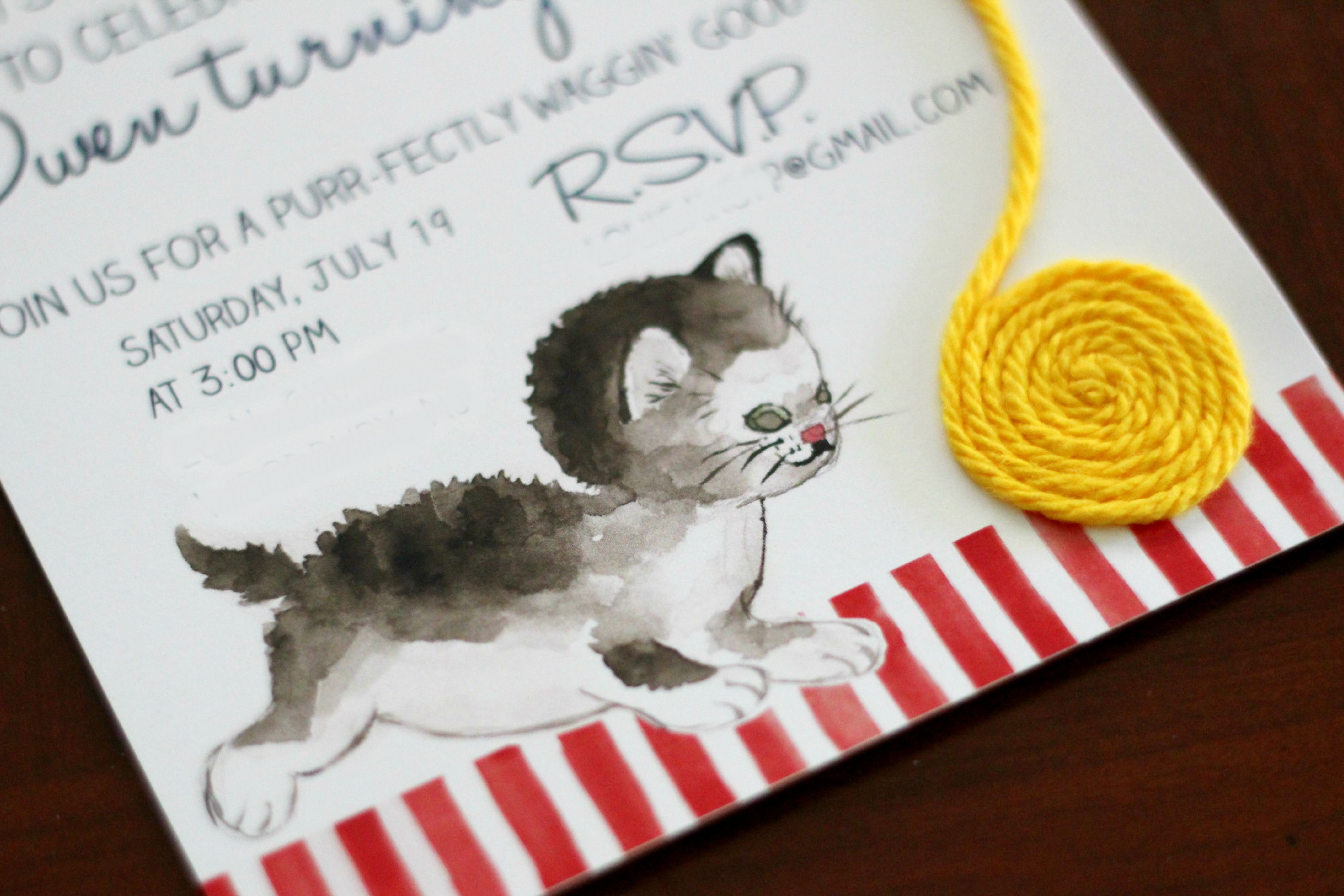 A purr fect invitation for owens second birthday party ice cream a purr fect invitation for owens second birthday party filmwisefo