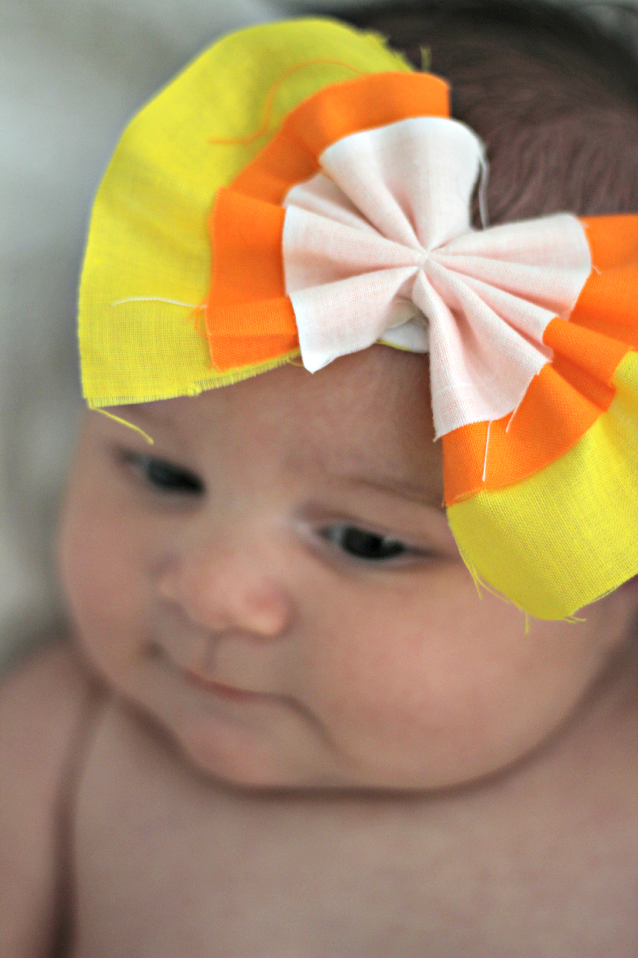 DIY Candy Corn Baby Headband