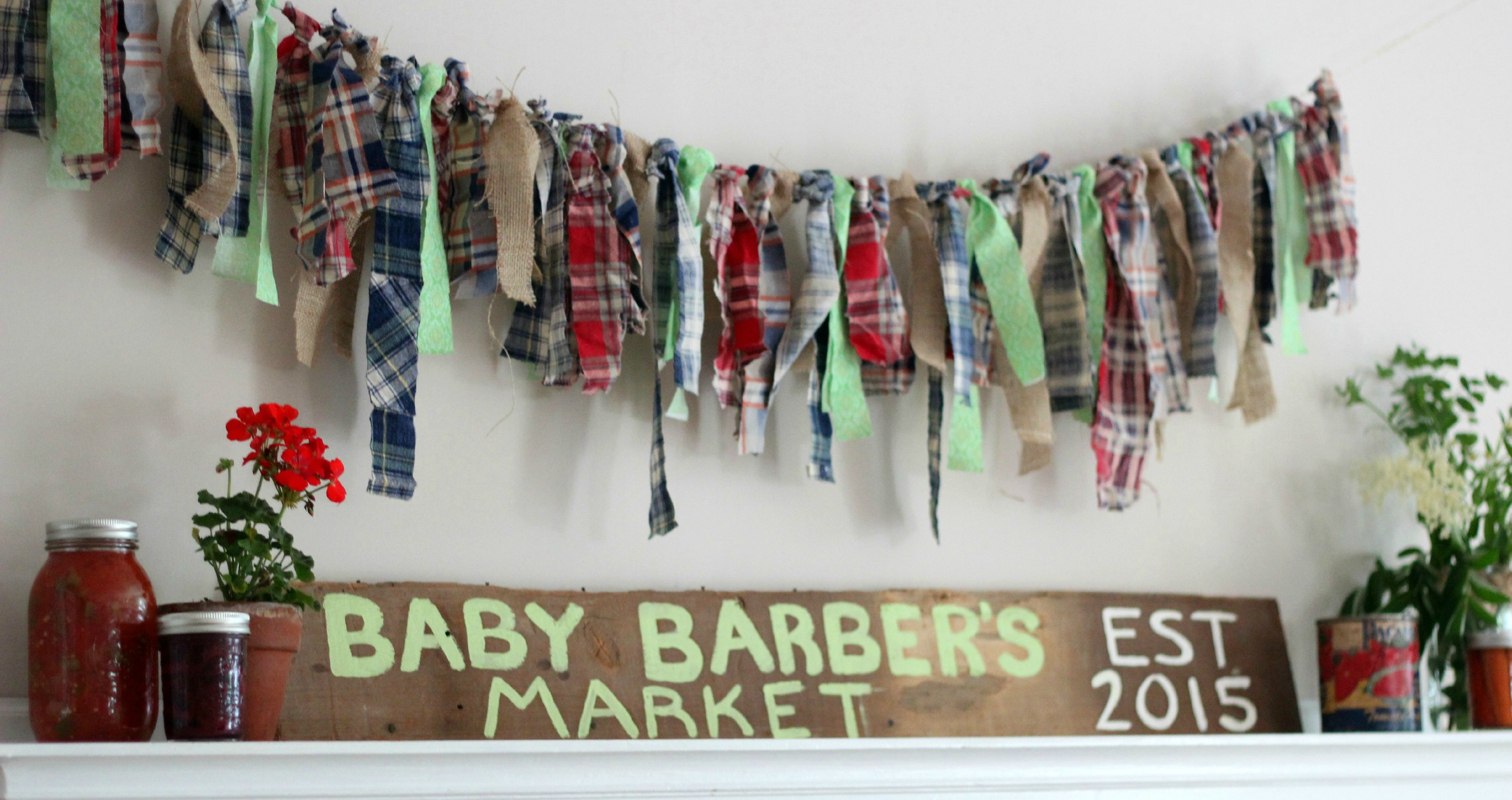 Roberta's Rustic Farmers Market Baby Shower