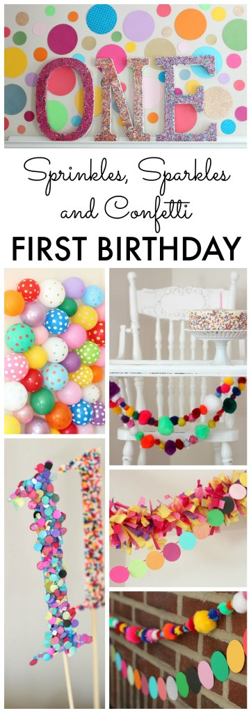Sprinkles, Sparkles and Confetti Birthday Party Ideas