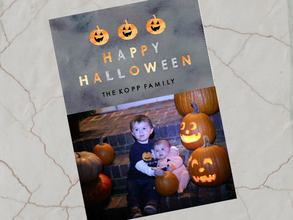 Frightfully Delightful: Personalized Halloween Photo Card Giveaway!